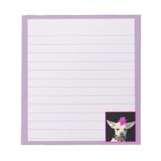 Punk Rock  Chihuahua  dog notepad