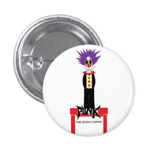 punk rock clown, THE DOWN CLOWN 1 Inch Round Button
