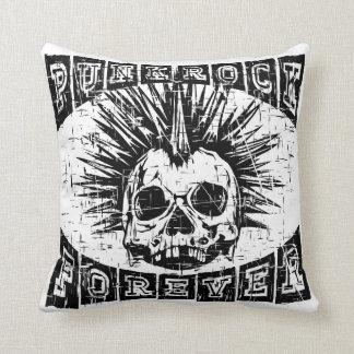 punk rock forever throw pillow