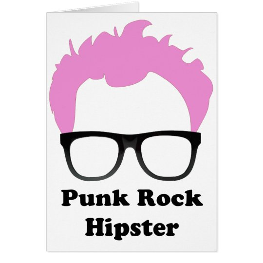 Punk Rock Hipster Greeting Card