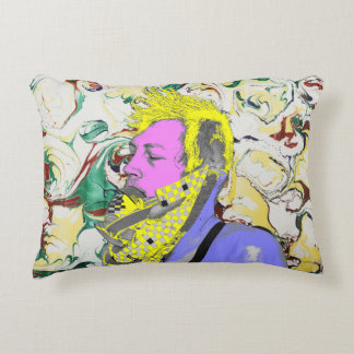 Punk Rock Holi Festival Accent Pillow