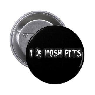 Punk Rock Mosh pit guys girls punk music slam pit 2 Inch Round Button