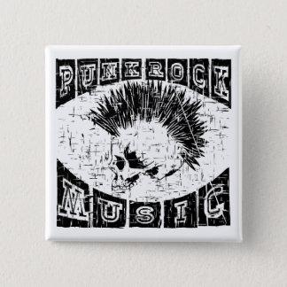 punk rock music 2 inch square button
