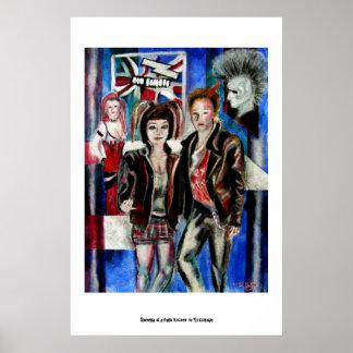 punk rock music fashion image poster