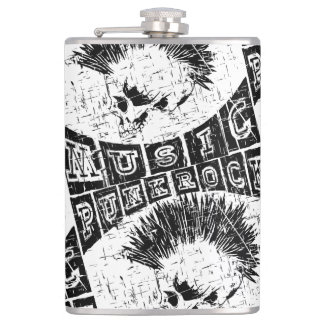 punk rock music hip flask