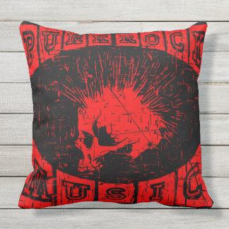 punk rock music throw pillow