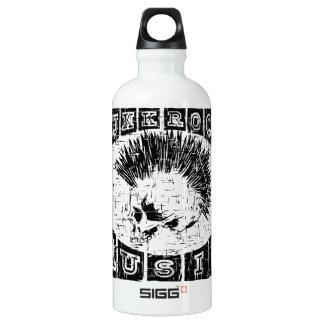 punk rock music water bottle