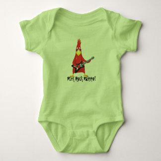 Punk Rock Parrot Baby Bodysuit
