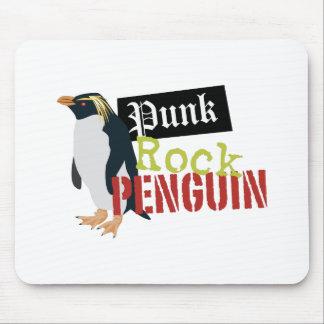 Punk Rock Penguin Mouse Pad