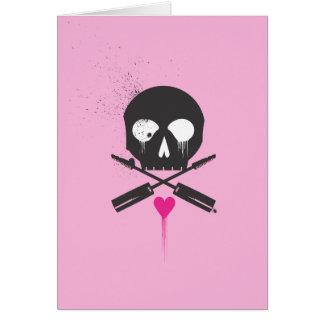 Punk Rock Skull n Bones Notecards Card