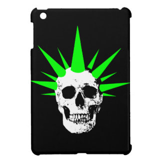Punk Rock Skull with Neon Green Spikey Hair Case For The iPad Mini