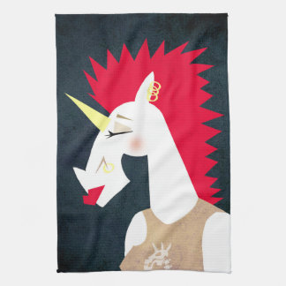 Punk Rock Unicorn Kitchen Towel