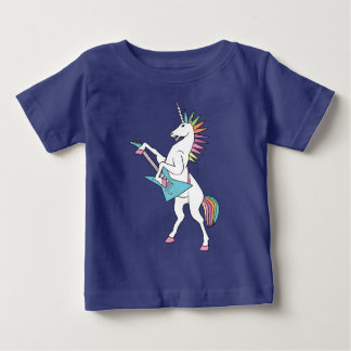 punk-rock-unicorn-playing-guitar-shirt baby T-Shirt