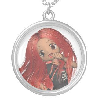 Punk Rocker Angie Girl Anime Kid Necklace