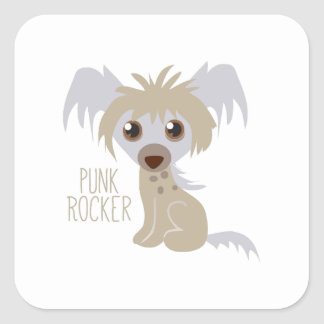 Punk Rocker Square Stickers