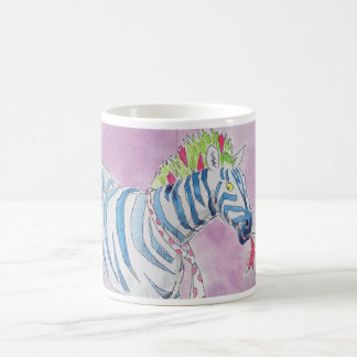 Punk Rocker Zebra Coffee Mug