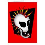 PUNK SKULL-2 GREETING CARD