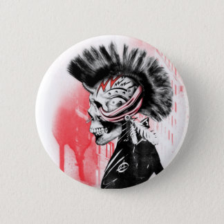 punk skull 2 inch round button