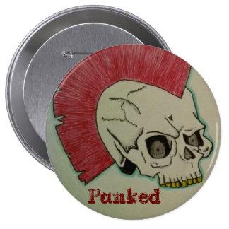 Punk Skull 4 Inch Round Button