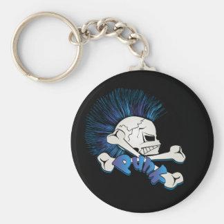 Punk Skull Keychain