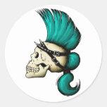 Punk Skull Round Sticker