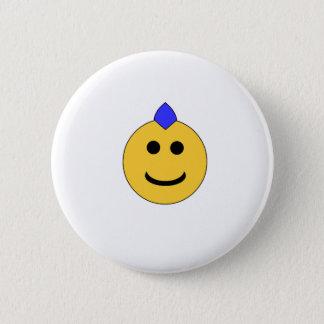 Punk Smiley 2 Inch Round Button