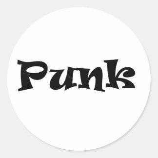 punk classic round sticker