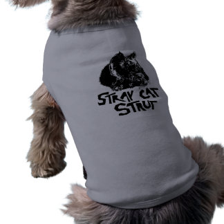 punk stray cat strut pet shirt