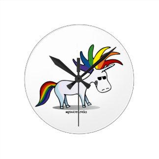 Punk Unicorn - punk unicorn Round Clock