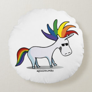 Punk Unicorn - punk unicorn Round Pillow
