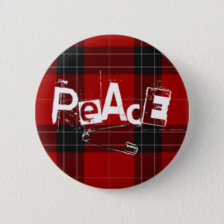 Punked-up Peace 2 Inch Round Button