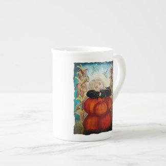 Punkin Pile - Pumpkins, Witch, Moon, Halloween Tea Cup