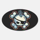 Punkin Pirate 1113 Oval Sticker