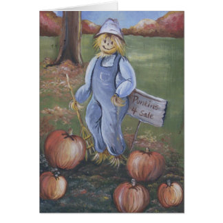 Punkins for Sale Card