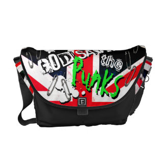 Punks not Dead God Save Punks Grunge Union Jack Commuter Bags