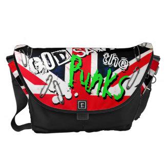 Punks not Dead God Save Punks Grunge Union Jack Messenger Bag