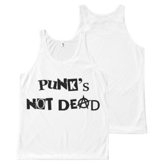 punk's not dead punk music famous message anarchy All-Over-Print tank top