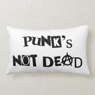 punk's not dead punk music famous message anarchy lumbar pillow
