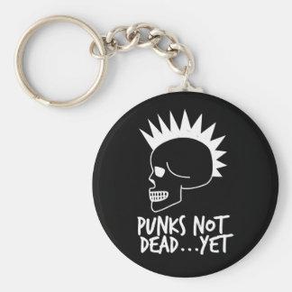 Punks Not Dead...Yet Skull Dark Keychain