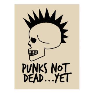 Punks Not Dead...Yet Skull White Postcard