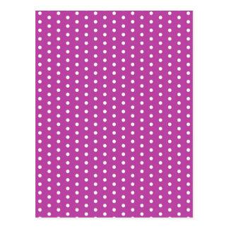 pünktchen pink polka (several products selected) postcard