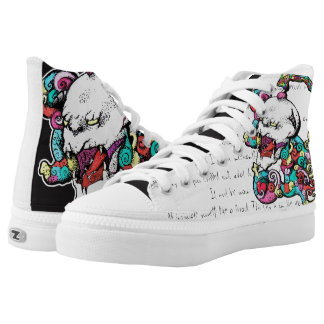 Punky Demon Skull Asimetrical Shoes