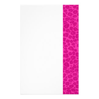 Punky Hot Pink Leopard Print Stationery