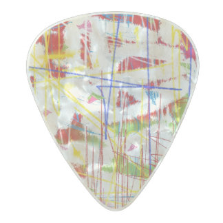Punky Paint Pearl Celluloid Guitar Pick
