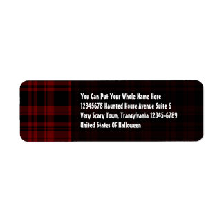 Punky Plaid Blood Red