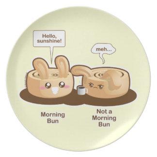 Punny Buns: Cute  Morning Bunny Dinner Plates