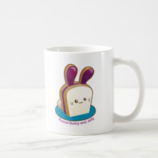 Punny Buns: Cute Peanut Butter and Jelly Bunny Coffee Mug