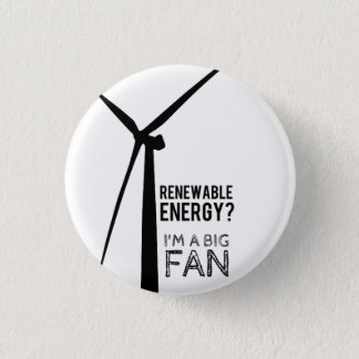 Punny Renewable Energy Windmill Button