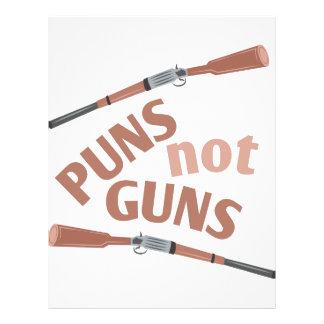 Puns Not Guns Letterhead Design