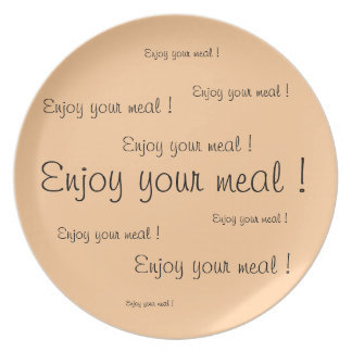 "Punt/Plate ""Enjoy your meal """